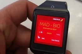 Samsung Gear 2 smartwatch boarding pass