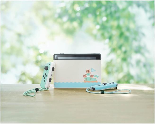 Nintendo Switch Animal Crossing: New Horizons Editie Blauw, Mint, Multi-color