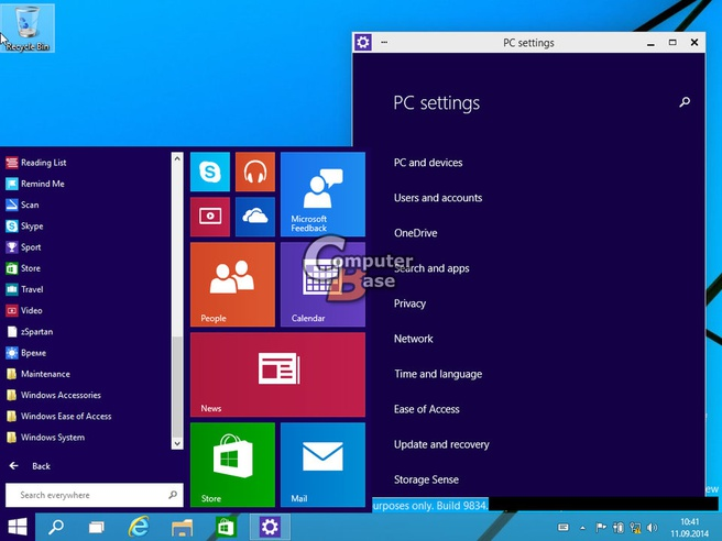 Nieuwe screenshots Windows 9