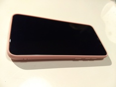 Pocophone silicone case pink front