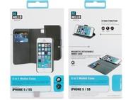 BeHello iPhone 5 / 5S / SE 2-in-1 Wallet Case Black