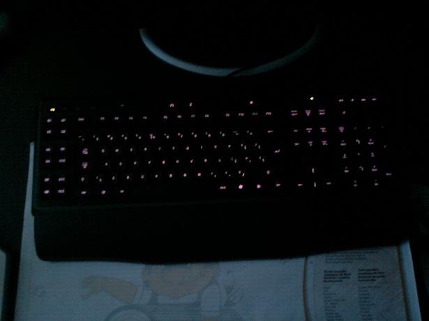 Logitech G110 verlichting paars