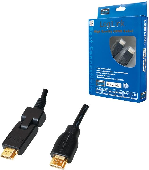 LogiLink 1.8m, HDMI - HDMI