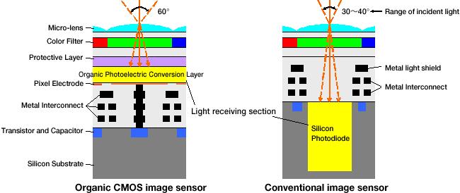 Organische cmos-sensor