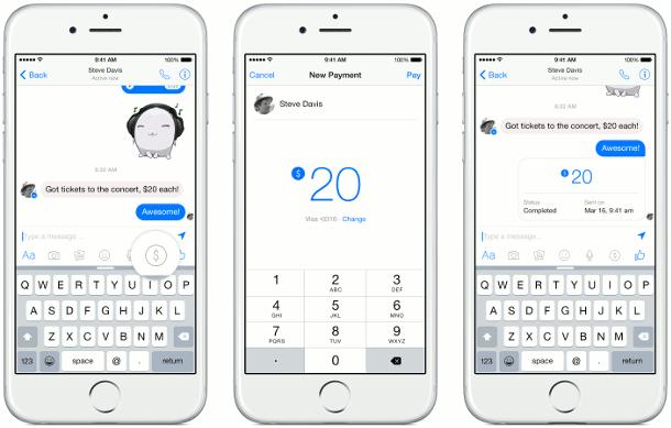 Facebook Messenger-betalingen