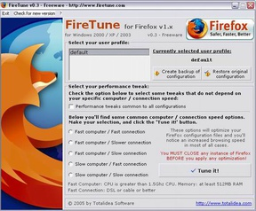 FireTune 0.3 screenshot (resized)