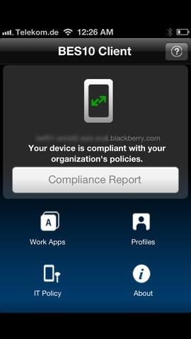 BES10-client op iOS