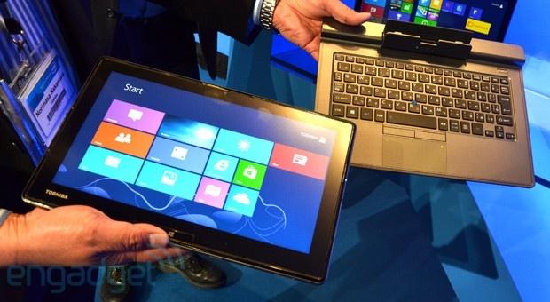 Toshiba detachable ultrabook op IDF