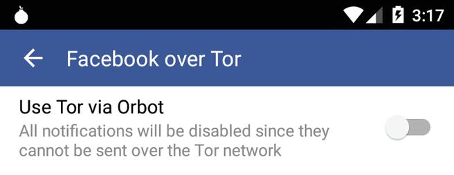 Facebook-app voor Android met Tor-ondersteuning