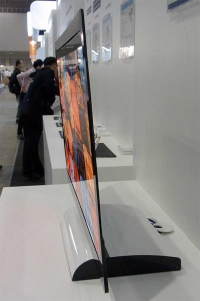 AU Optronics 32inch oled-tv prototype CES 2012
