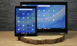 Chrome OS met tabletmodus