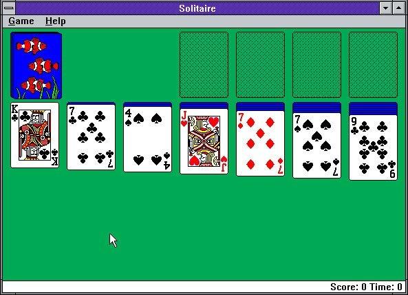 solitaire windows 3.0