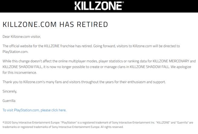 Killzone.com licht uit