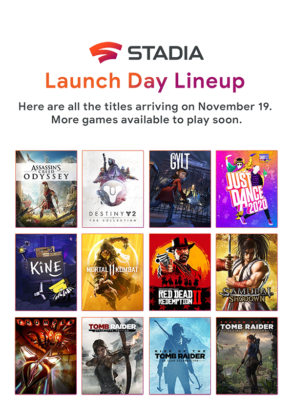 Launch Day Lineup