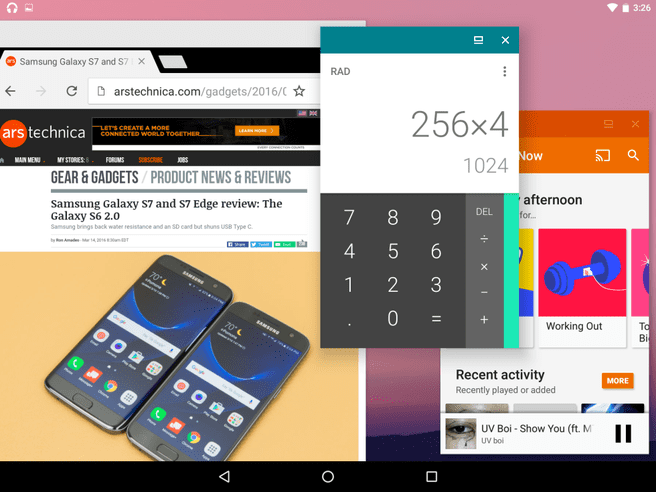Android N Window mode