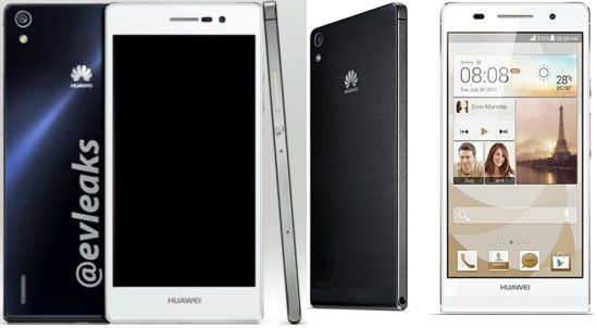 Huawei Ascend P7 naast P6