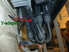 2 x Y-adapter voor splitsing vermogen