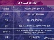 Spescheet Nexus 5 2015