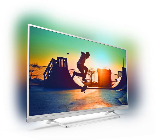 Philips 6000-serie Ultraslanke 4K-TV met Android TV? 55PUS6482/12 Zilver