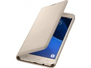 Goedkoopste Samsung Galaxy J5 (2016) Flip Wallet - Gold (Galaxy J5(2016)) Zwart