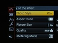 Lumix GH3 menu foto