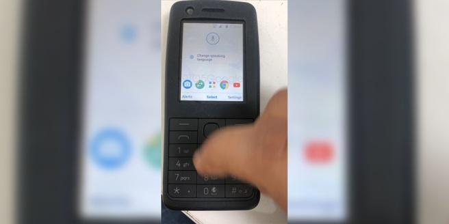 Android Nokia-telefoon met Chrome