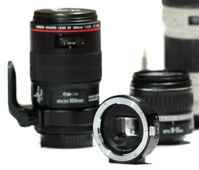 Canon EF naar NEX adapter met elektronische koppeling diafragma