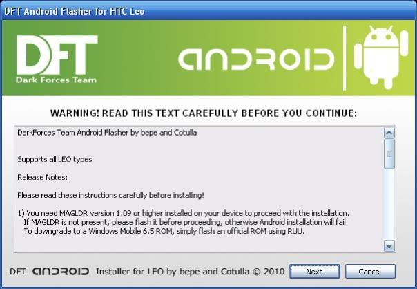DFT HD2 flasher