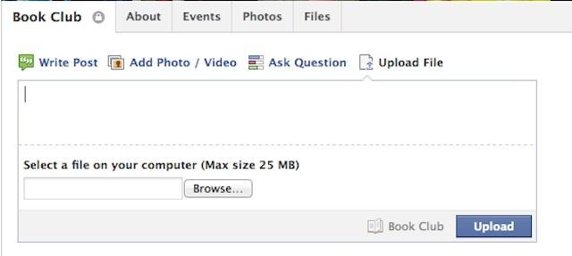 Facebook filesharing voor groepen