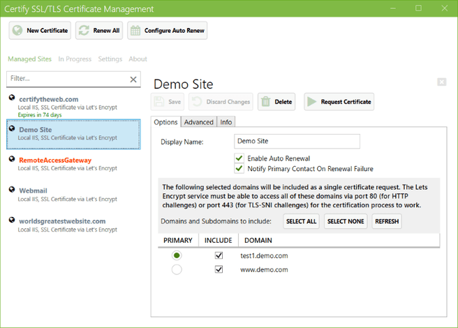 Certify SSL Manager 4.0.4