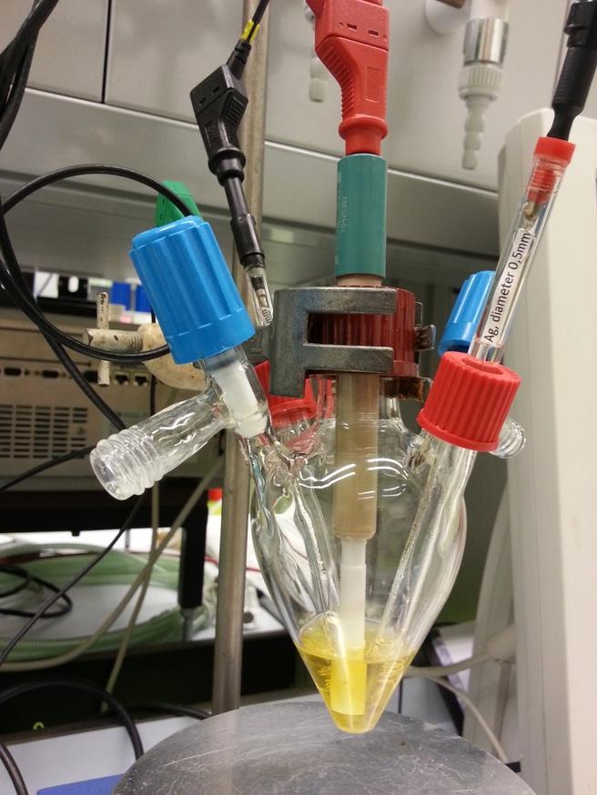 Katalysator waterstofproductie foto: UvA Joost Reek