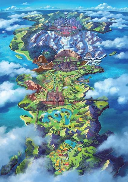 Galar - Pokémon Shield en Pokémon Sword