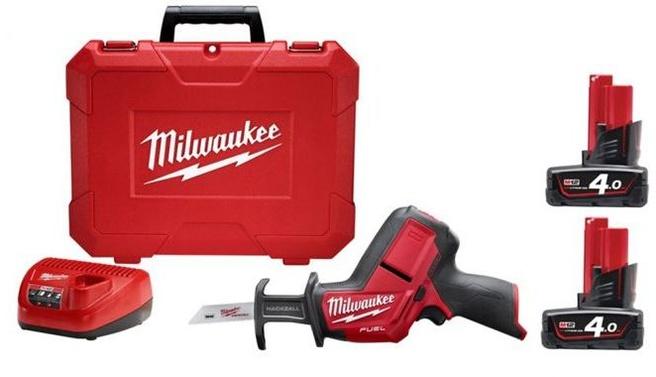 Milwaukee M12 CHZ-402C (2x 4.0Ah accu, koffer)