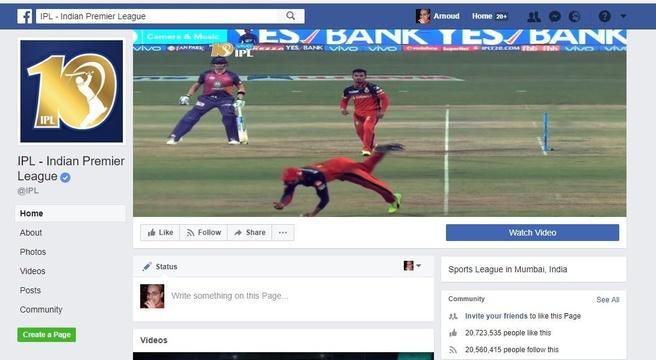 Facebook IPL