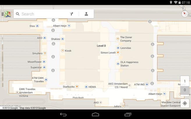 Google indoor maps Amsterdam CS