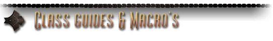 Class guides & macro's