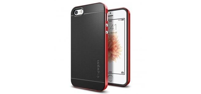 Spigen Neo Hybrid Apple iPhone SE Case - 041CS20186 - Dante Red