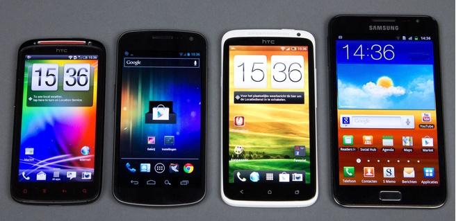 HTC Sensation XE, Galaxy Nexus, HTC One X, Samsung Galaxy Note