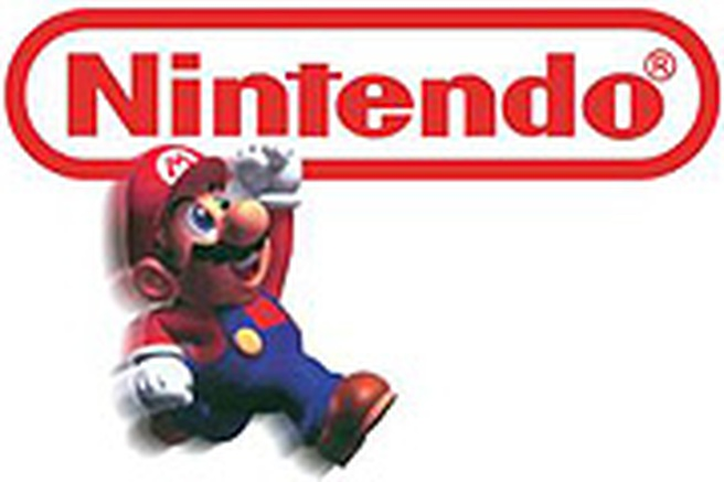 Nintendo logo with Mario
