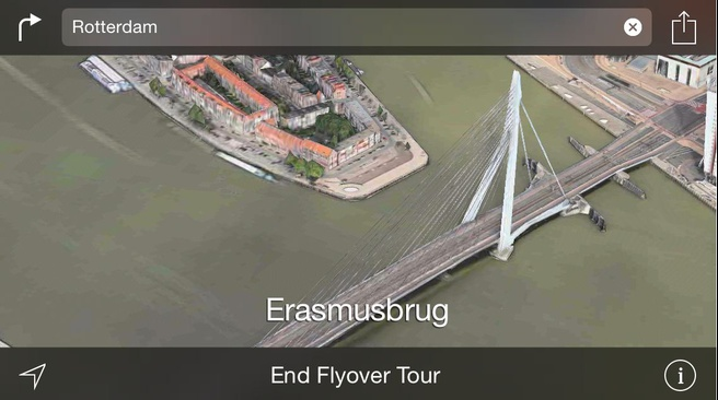 Apple Maps flyover 3d Rotterdam