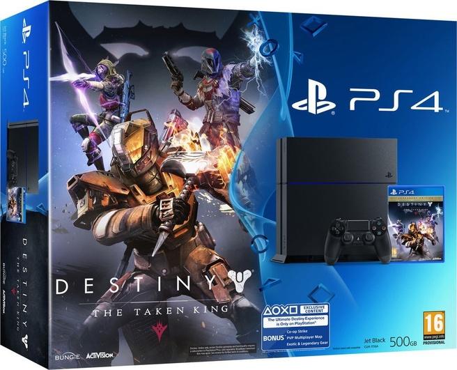 Sony PlayStation 4 Console 500GB + 1 Wireless Dualshock 4 Controller + Destiny: The Taken King - Legendary Edition - zwart PS4 Bundel