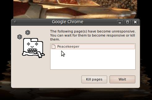 Tab Peacekeeper crasht