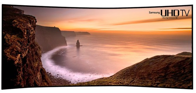 "Samsung 105"" curved uhd-tv"