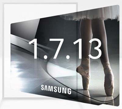 Samsung tv teaser CES 2013