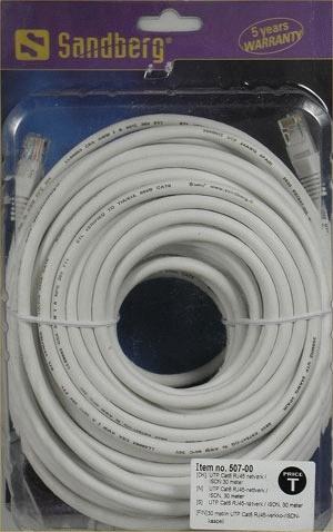 Sandberg Network Cable UTP Cat6 30 m