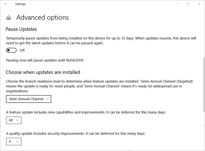 Windows 10 pause updates (2)