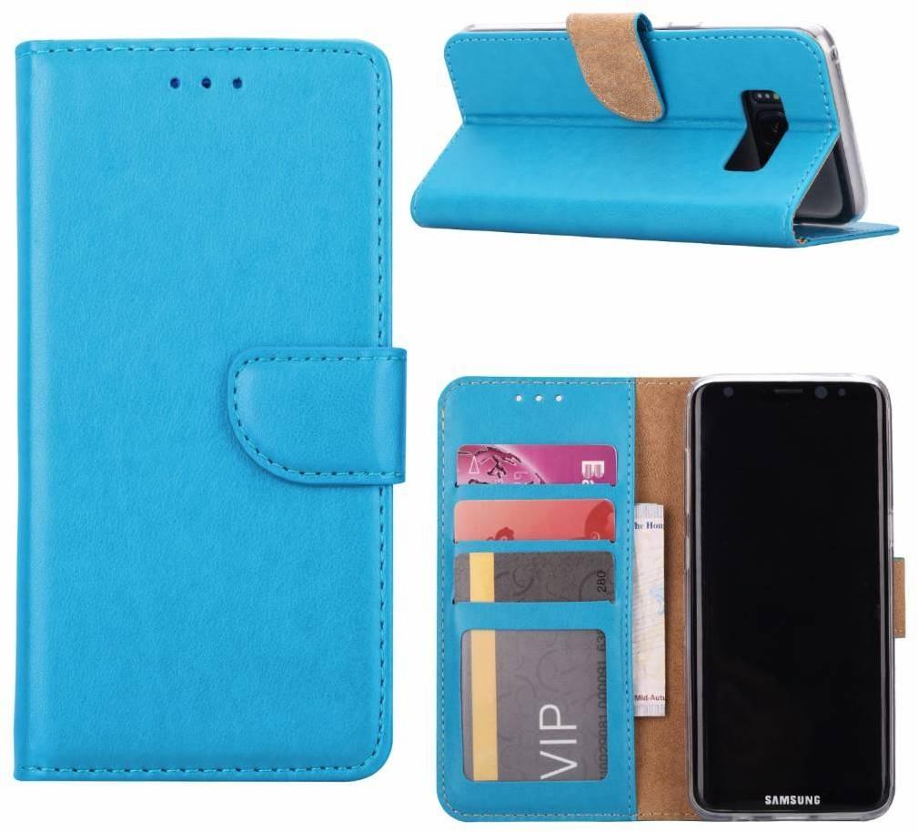 60df99d86f6 Luxe Lederen Bookcase hoesje voor de Samsung Galaxy S8 - Blauw (Samsung  Galaxy S8)