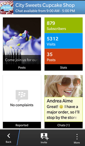 BlackBerry Messenger Channels