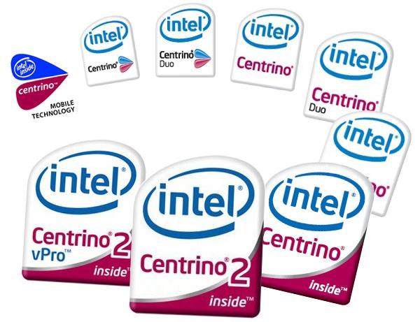 Centrino logo evolutie