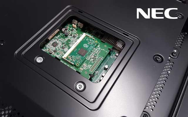 NEC-monitor met Raspberry Pi 3-integratie